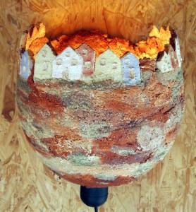 Lampe Gartenkeramik Handarbeit Keramik Unikat