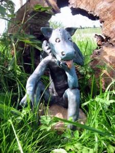 Drache Figur Gartenkeramik Handarbeit Keramik Unikat