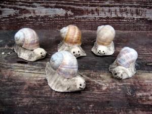 Schnecken Keramik Handarbeit