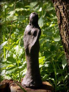 Skulptur Keramik Frau Unikat