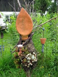Hauswurz Gartenkeramik Handarbeit Keramik Unikat