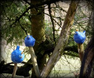 Zaunkönig Vogel Gartenkeramik