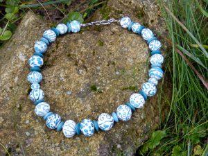 Lampwork Glasperlen Halskette Collier Unikat