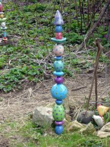 Gartenstab Keramik Unikat